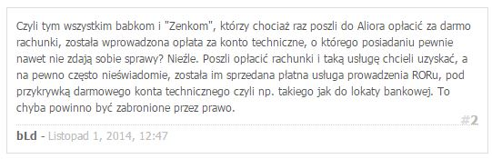 alior bank konto komentarze 2