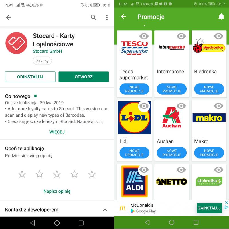 aplikacje finansowe stocard