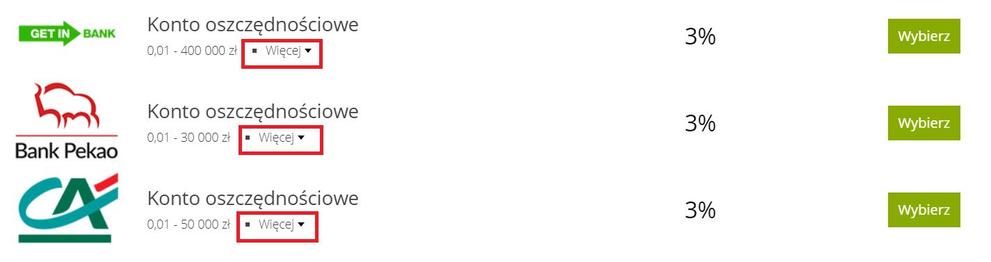 ranking kont oszczednosciowych dodatki