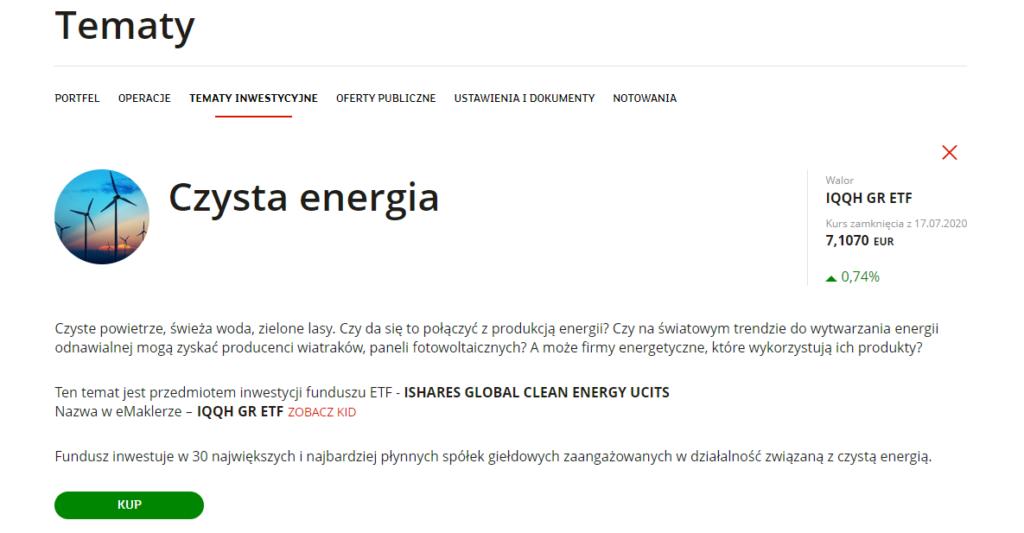 etf czysta energia